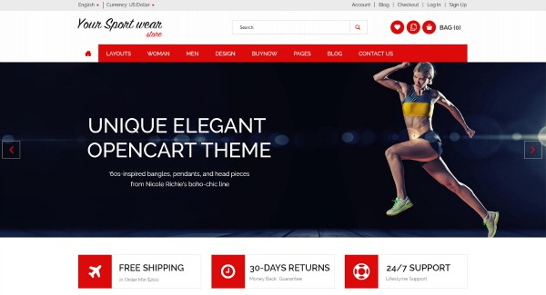 Multipurpose OpenCart Templates For Online Fashion Store