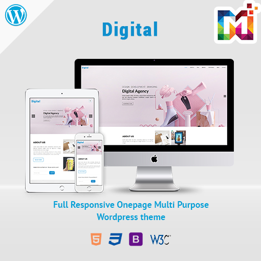 Responsive WordPress Theme Creative Digital Agency