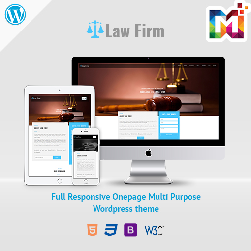 Responsive WordPress Theme Law Firm