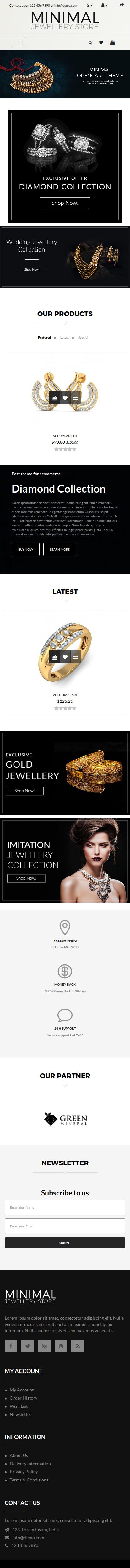 Minimal Jewellery Mobile