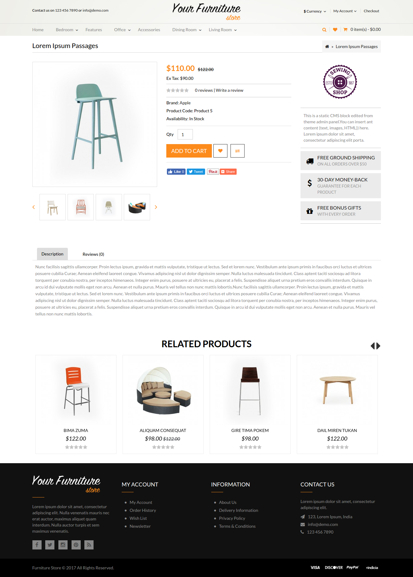 Responsive Furniture Single