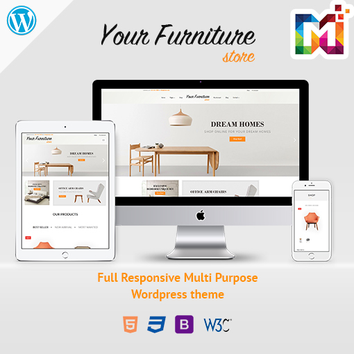Responsive WordPress Theme WooCommerce Furniture Store
