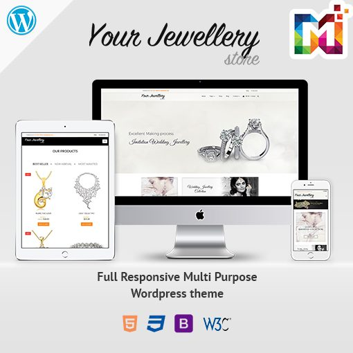 Responsive WordPress Theme WooCommerce Jewellery Store