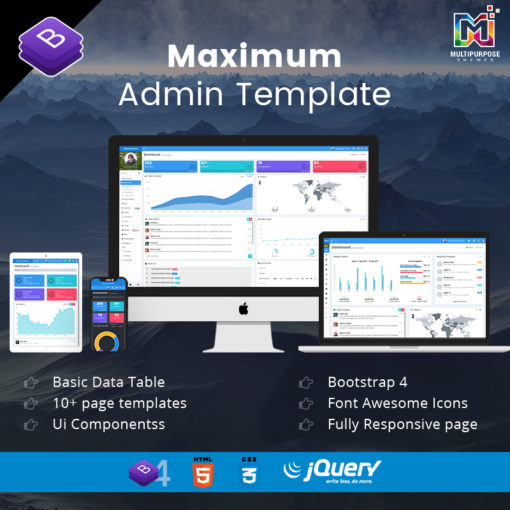 Maximum – Responsive Bootstrap 4 Admin Dashboard Template