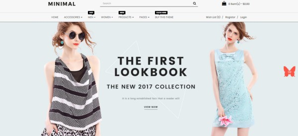 Responsive Open Cart 3 Theme Template – Minimal Fashion Store