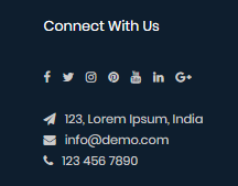 Custom Header Contact Module