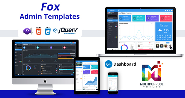 Fox – Multipurpose Responsive Bootstrap 4 Admin Dashboard Template + UI Kit