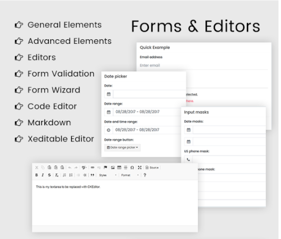forms and editors