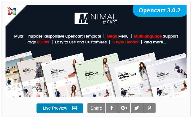Responsive eCommerce OpenCart 3