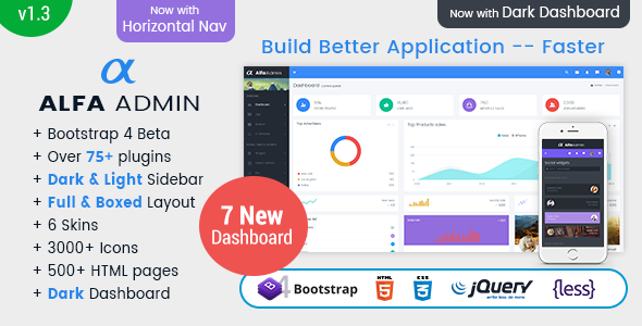 Alfa – Responsive Bootstrap 4 Admin Dashboard Template, UI And WebApp Template