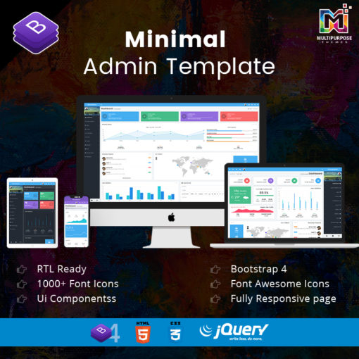 Minimal – Responsive Bootstrap 4 Admin Dashboard & WebApp Template