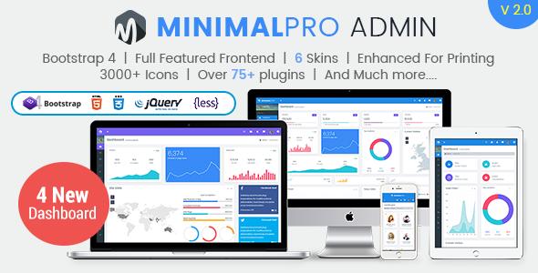 Minimal Pro – Responsive Bootstrap 4 Admin Dashboard Template & WebApp Template