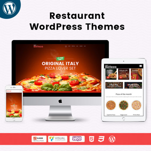 Responsive Restaurant WordPress Theme Website