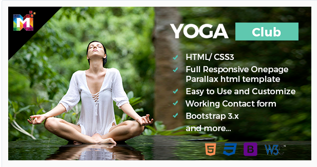 Yoga – Responsive One Page Parallax HTML Template