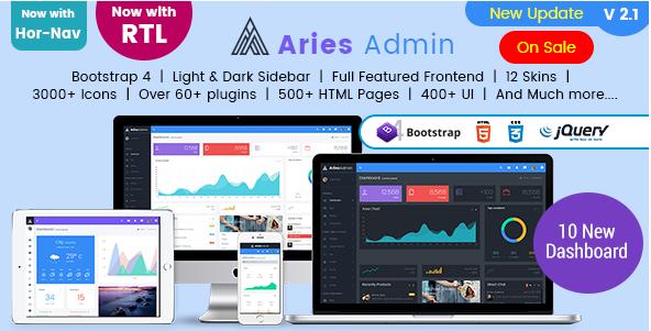Aries Admin – Responsive Bootstrap 4 Admin Template