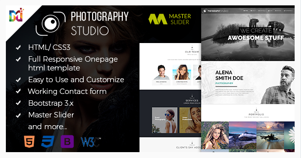One Page Photography Template