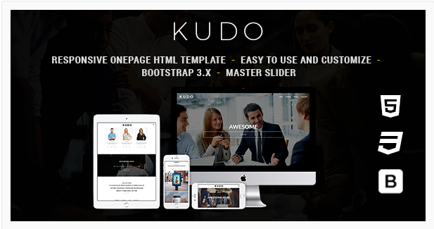 Kudo -One Page Responsive HTML Template