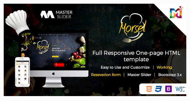 Morsel – Restaurant Lounge Cafe Responsive HTML5 Template