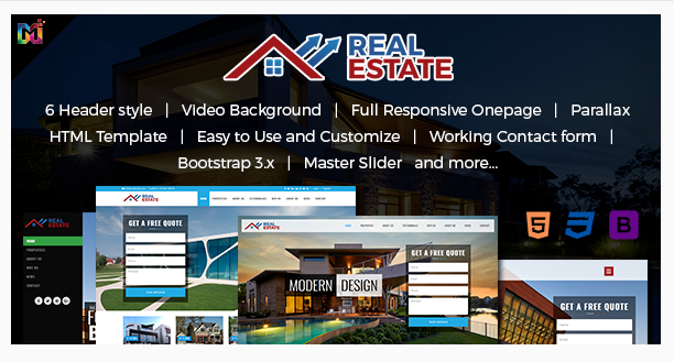 Real Estate – Responsive HTML Template