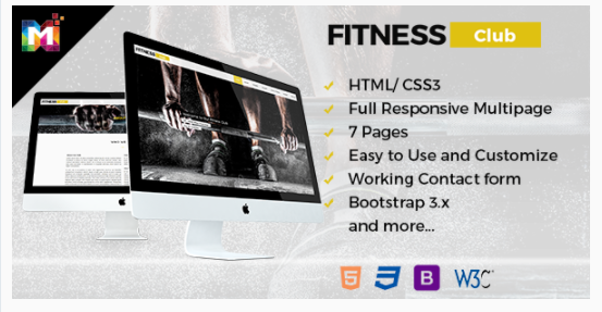 Fitness – Responsive HTML Multipurpose Template