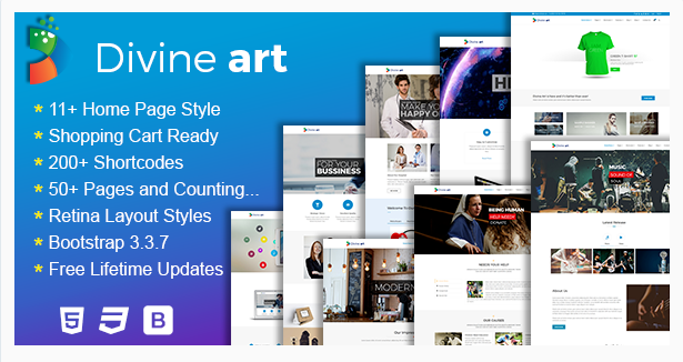 Divine – Responsive Multi-Purpose HTML5 Template