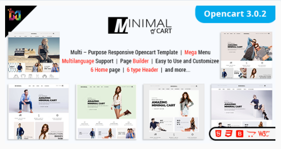Minimal Cart – Multipurpose Responsive ECommerce OpenCart 3 Theme