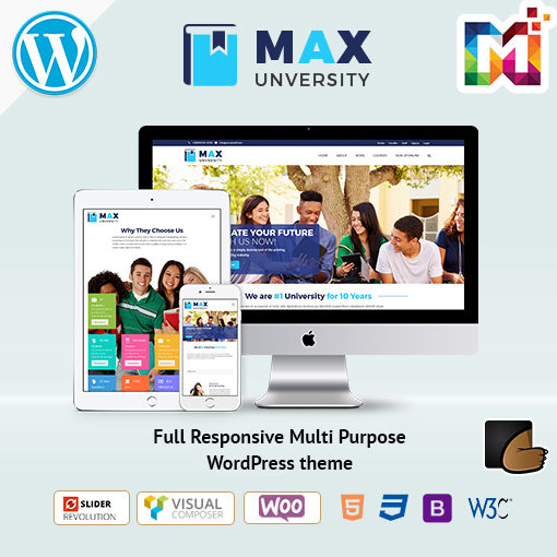 Responsive Education WordPress Theme Website