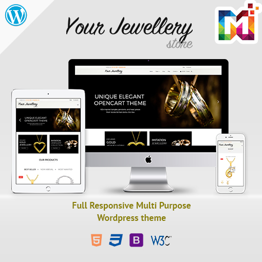 Responsive WooCommerce WordPress Theme Jewelry 2 Store