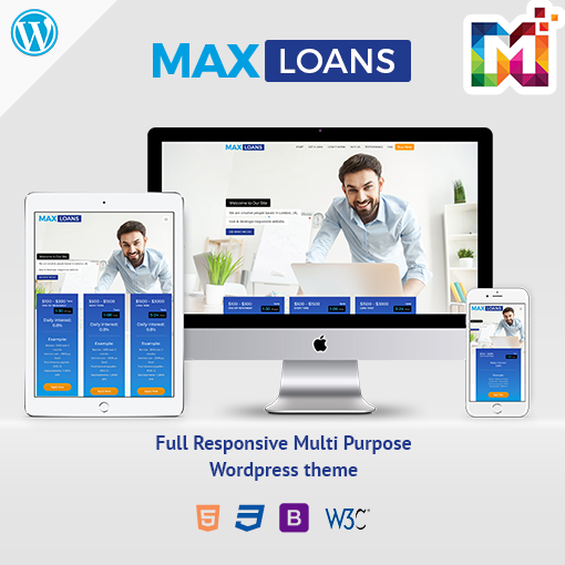 Responsive WordPress Theme For Finance Or Loan Website