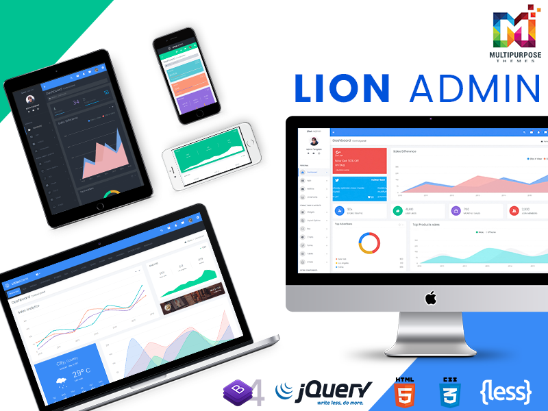 Lion – Responsive Bootstrap 4 Admin Dashboard Template, UI And WebApp Template | Admin Templates
