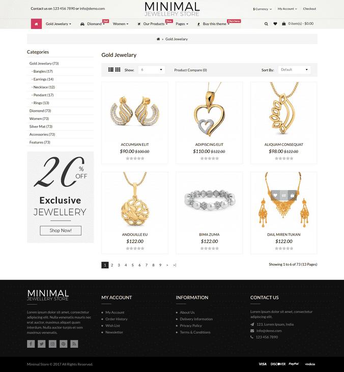 Minimal Jewellery Categorey