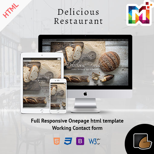 Restaurant – Responsive OnePage Template