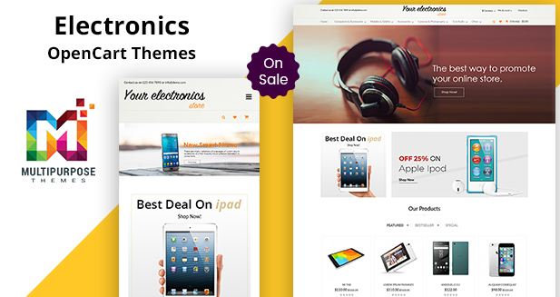 Electronics Store – Responsive Premium OpenCart Templates And Themes