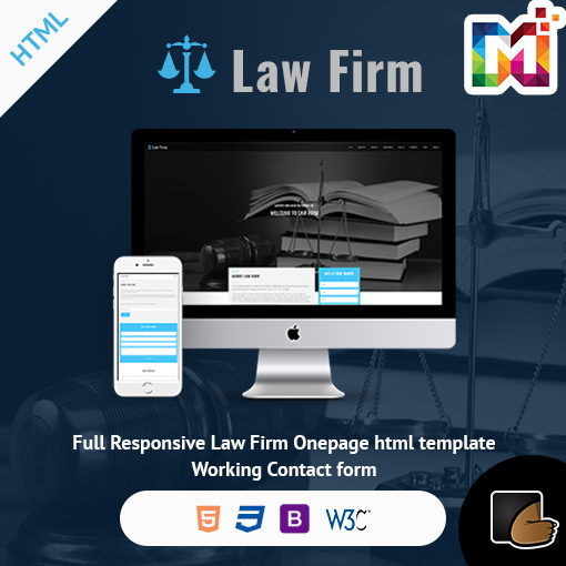 Law Firm – One Page Responsive Website Template