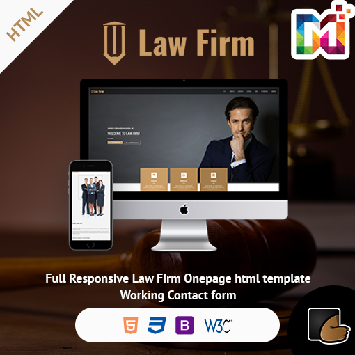 Law Firm - Responsive Website Template
