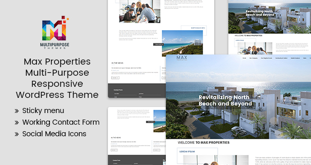 Max Property –  Multi-Purpose WordPress Themes