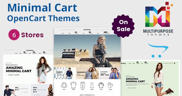 Minimal Cart – Multipurpose Responsive OpenCart Themes