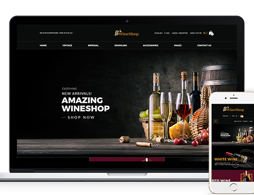 Wine Shop Responsive HTML Template