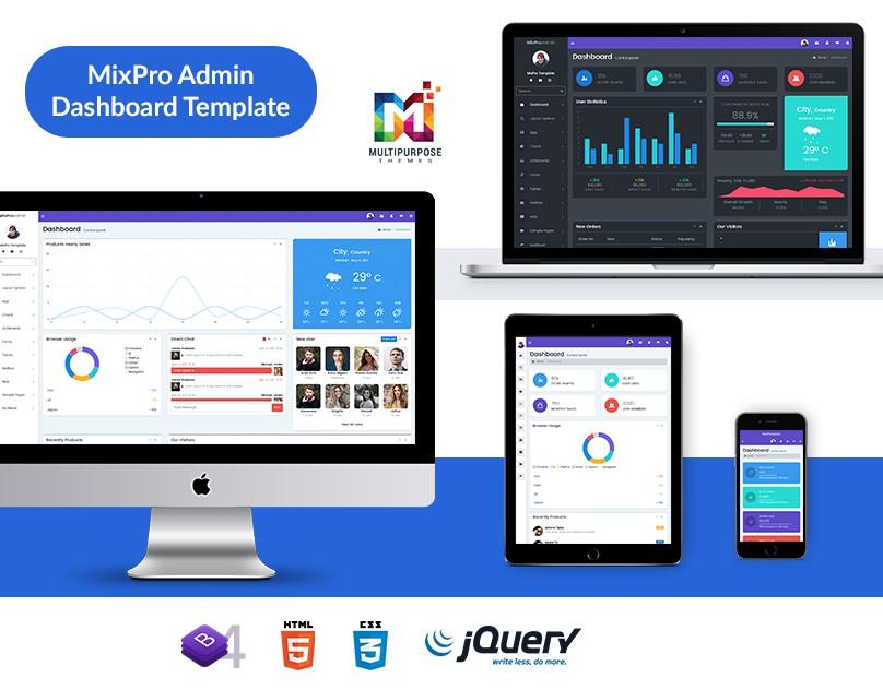 MixPro Admin – Premium Admin Template
