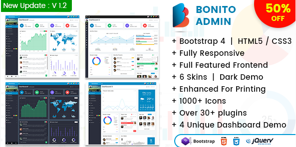 How Bonito – Responsive Bootstrap 4 Admin Template Can Help Build Dashboard
