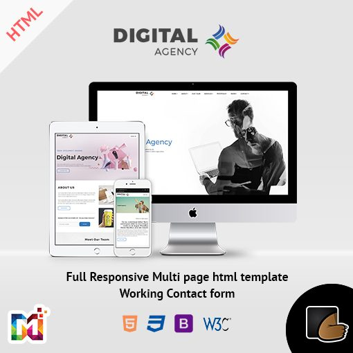 Digital Creative Agency – Responsive HTML Multipurpose Template