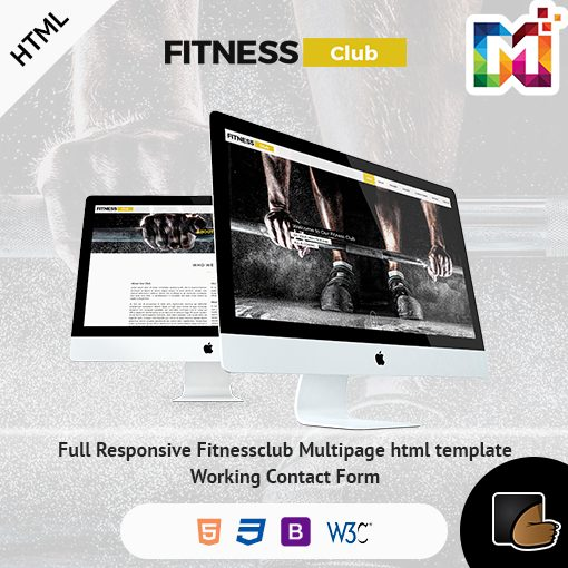 Fitness – HTML Responsive Multipurpose Template