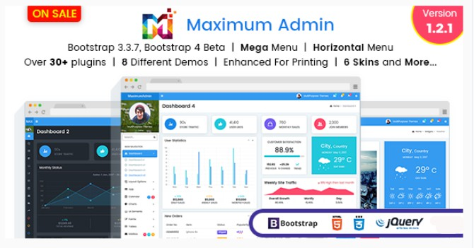 Maximum – Responsive Bootstrap 4 Admin Template