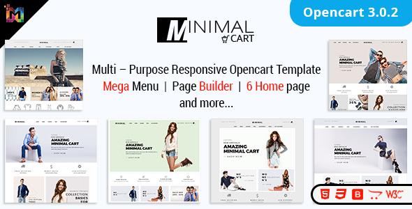 Minimal Cart – Multipurpose Responsive OpenCart3 Themes
