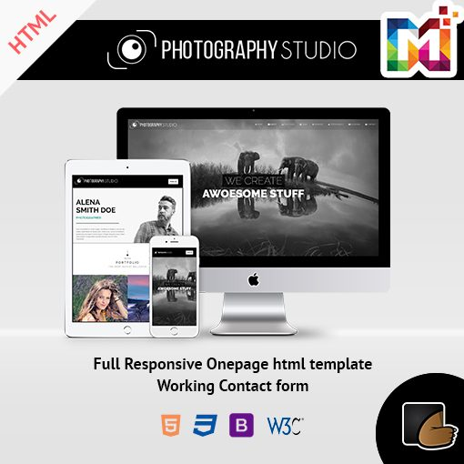 Photography  – One Page Responsive HTML Template