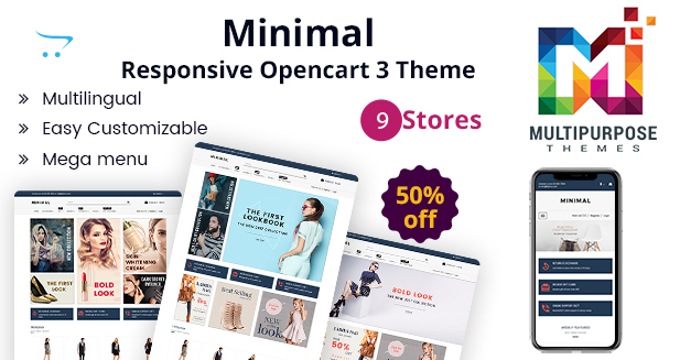 Minimal Fashion Store & Jewelry Store – Responsive OpenCart Templates
