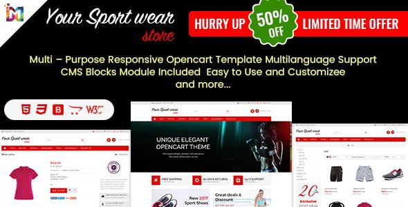 Elegant – Multi-purpose Responsive OpenCart Theme