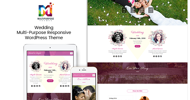 Wedding – Multi-Purpose Responsive WordPress Themes