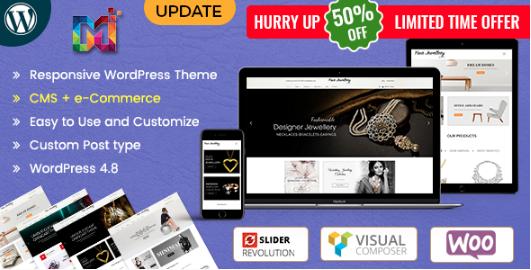 Jewellery Store – Responsive WordPress Theme