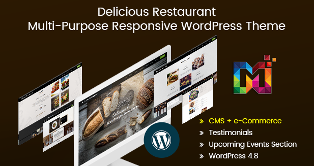 Delicious Restaurant – Multi-Purpose Responsive WordPress Themes
